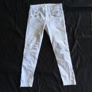 H&M Boyfriend Zippered White Jeans 12